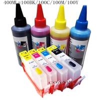 400ml Dye inks for hp364 refillable Ink cartridges for HP 3070A 3520 4610 4620 B209a 6510 B109a B109n B110a B111a with ARC chip