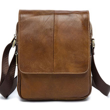Brand Genuine Leather Bag Men's Messenger Bags Retro Cowhide Briefcase Business Casual Male Travel Shoulder Crossbody Bag 2016