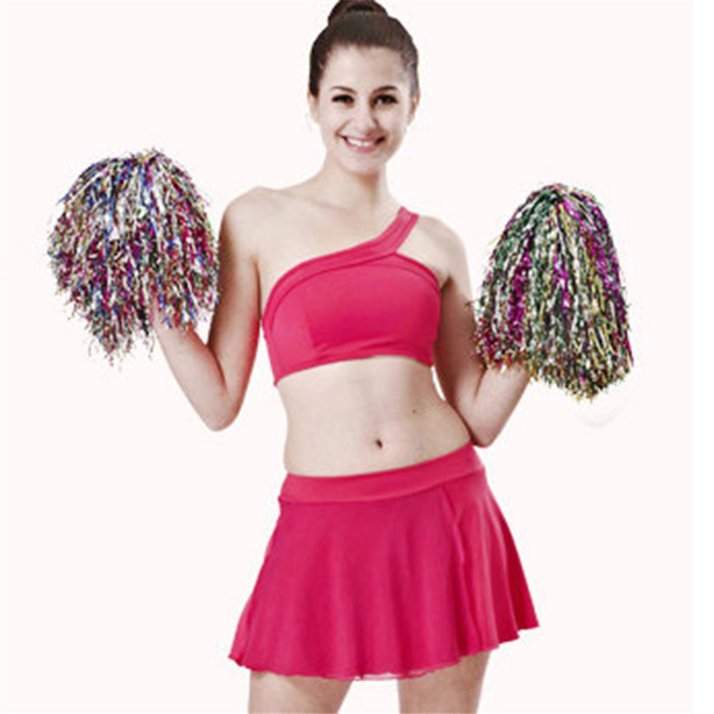 1pc Cheer Dance Sport Supplies Competition Cheerleading Pom Pom Decorations Apply To Sports Match And Vocal Concert 3 Colors