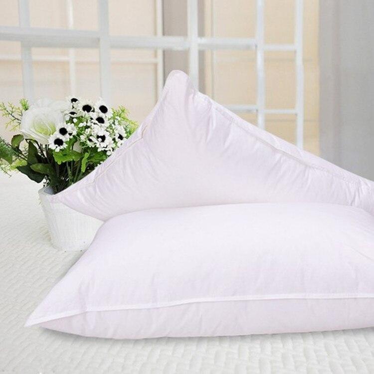 흰색 거위 깃털 베개 표준 크기 20 * 30 인치 채워진 45 온스 회사 유형 무료 배송