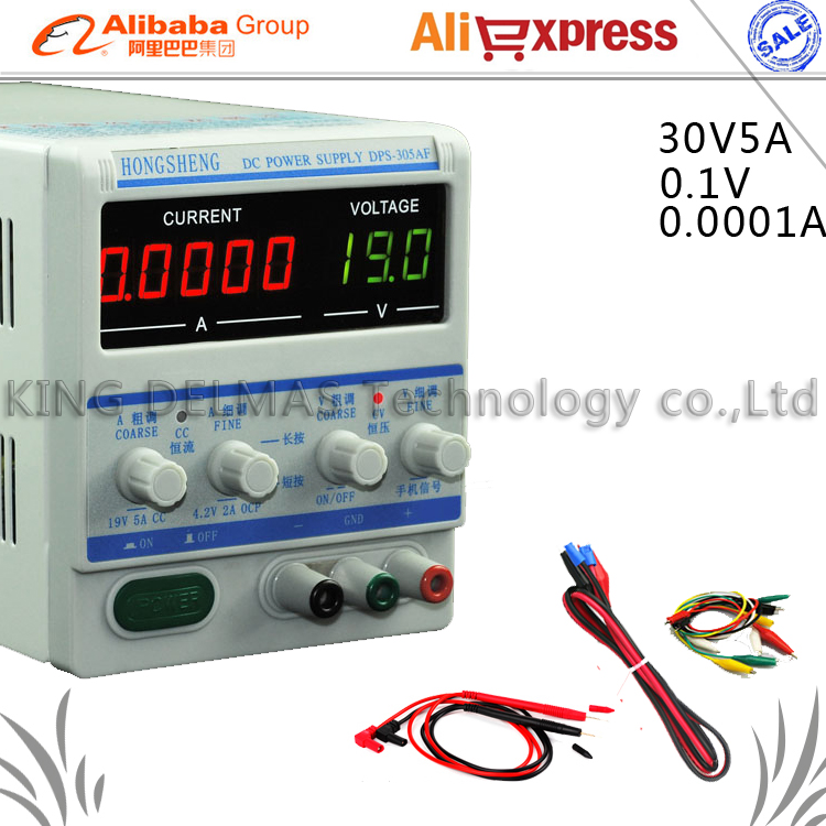 305AF 30V 5A 0.1V/0.0001mA High precision Professional Adjustable Digital DC Power Supply for Laptop phone repair power supply kuaiqu high precision adjustable digital dc power supply 60v 5a for for mobile phone repair laboratory equipment maintenance
