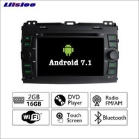 Liislee Android 7.1 2GRAM For Toyota Land Cruiser Prado Car Radio Audio Video Multimedia DVD Player WIFI DVR GPS Navi Navigation
