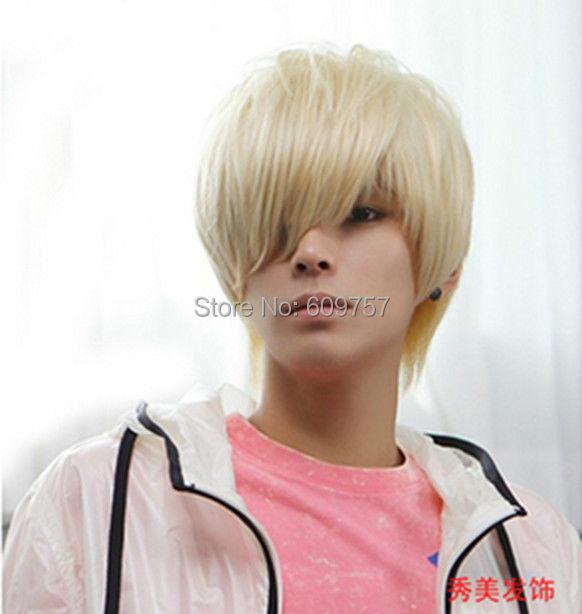 Awe Inspiring Boys Wig New Korean Fashion Short Men Light Blonde Hair Synthetic Hairstyle Inspiration Daily Dogsangcom