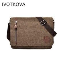 IVOTKOVA, Брезентовая многофункциональная сумка-мессенджер, сумки на плечо, солидные портфели с карманом для карт, для мужчин и женщин, для офиса, для путешествий на открытом воздухе