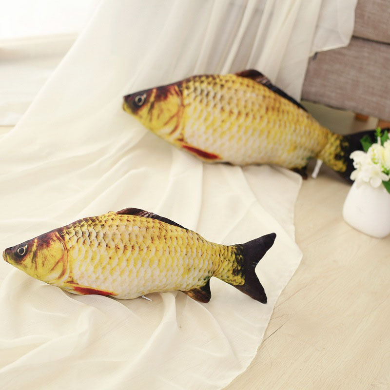 Funny Simulation Carp Kids Plush Toy Stuffed Fish Plush Stuffed Animal Toys Nice Pillow Baby Room Decoration Birthday Gift newborn baby animal white tiger stuffed plush kawaii pillow plush baby soft toy kids toys for children s room decoration doll
