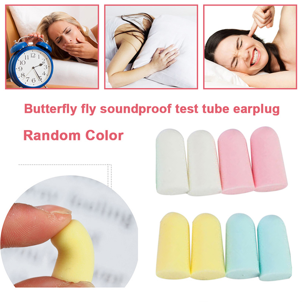 Giantree 1pair Soft Protective Ear Plugs Noise Reduction Earplugs Anti-Noise Ear Plugs Howard Protection Earmuffs Rand Color