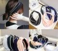 Corea Del sur tocado minimalista retro gasa ribete cross hair band diadema anudada cruz bufanda