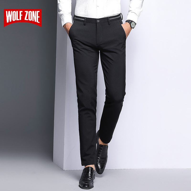 2018 New High Quality Men Pants Fashion Straight Spring and Summer Long Mens Classic Business Casual Brand Trousers Size 29-38