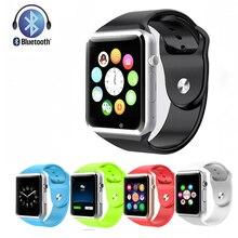 Freies verschiffen A1 Armbanduhr Bluetooth Smart Uhr Sport Pedometer Mit SIM Kamera Smartwatch Für Android S4/Anmerkung 2 Smartphone