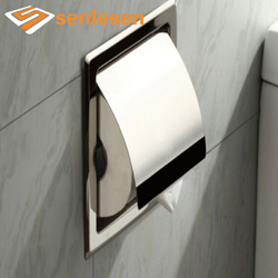 Wholesale And Retail Free Shipping  Chrome Finish Stainless Steel Bathroom Toilet Paper Holder Tissue Box Holder