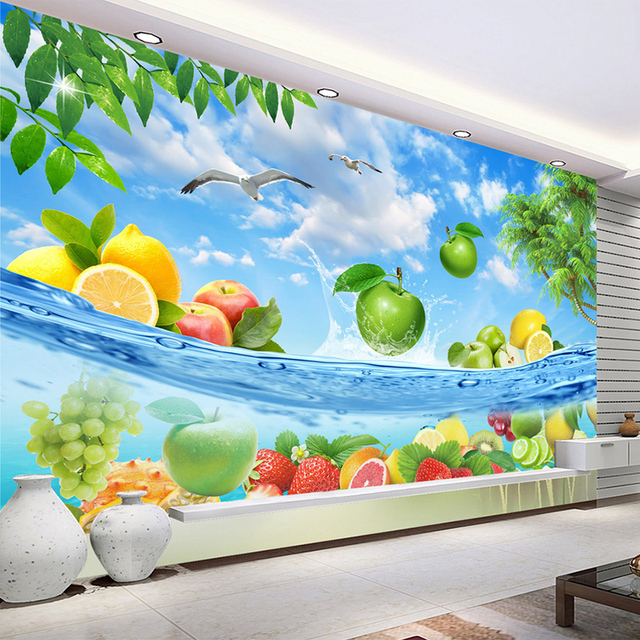 Kitchen Design Hd Wallpapers: Custom 3D Photo Wallpaper Fruit Large Murals Wall Painting