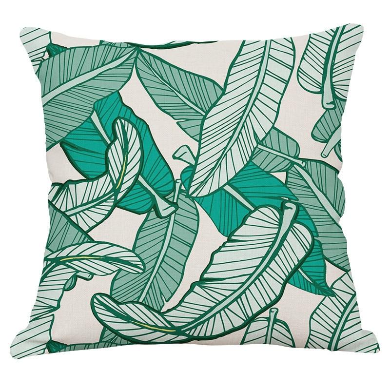 Yaşıl yarpaqlar Tropik Bitkilər Banan Yarpaqları Canna Monstera - Ev tekstil - Fotoqrafiya 2