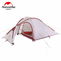 NatureHike Hiby Family Tent 20D Silicone Fabric Waterproof Double Layer 2 Person 3 Season Aluminum Rod