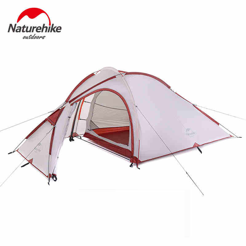NatureHike Hiby Family Tent 20D Silicone Fabric Waterproof Double-Layer 2 Person 3 Season Aluminum Rod Outdoor Camping Tent good quality flytop double layer 2 person 4 season aluminum rod outdoor camping tent topwind 2 plus with snow skirt