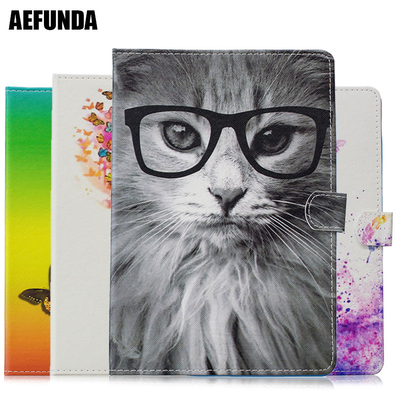 Fashion Cat Pattern Pad Case for iPad Pro 9.7 2016 Case Butterfly Wreath Girl Do What You Love PU Leather Flip Wallet Holster image