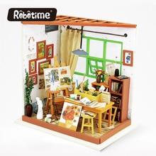 Robotime 3D Puzzle DIY Crafts  Furniture Kit Dollhouse Japanes Dollhouse Miniature Accessoires Display Drawing DG103