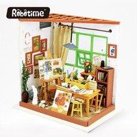 Robotime 3D Puzzle FAI DA TE Artigianato Kit Mobili Dollhouse Japanes Dollhouse Miniature Accessori Display Disegno DG103