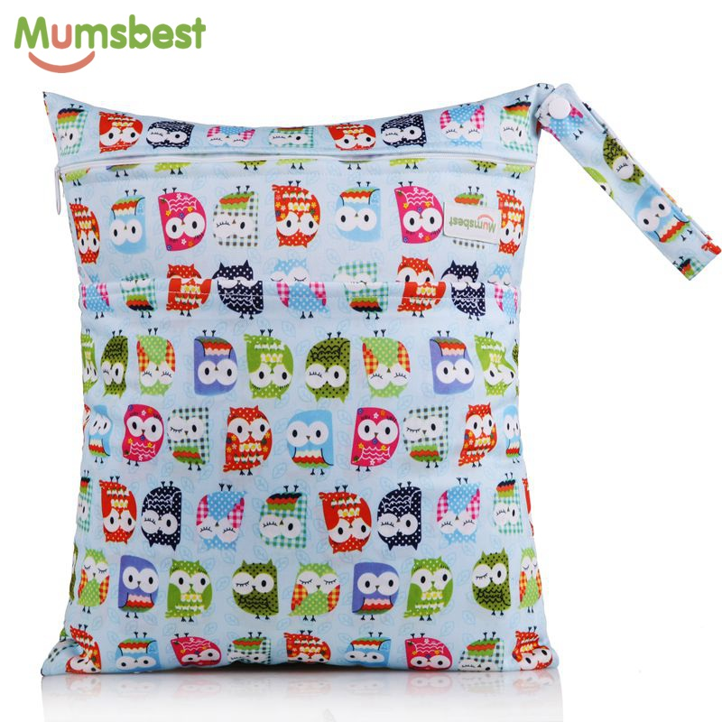 Orderly [mumsbest] Quick Drying Washable Reusable Cloth Nappy Wet Bag Waterproof Swim Sport Travel Carry Bag Big Size:36x30cm
