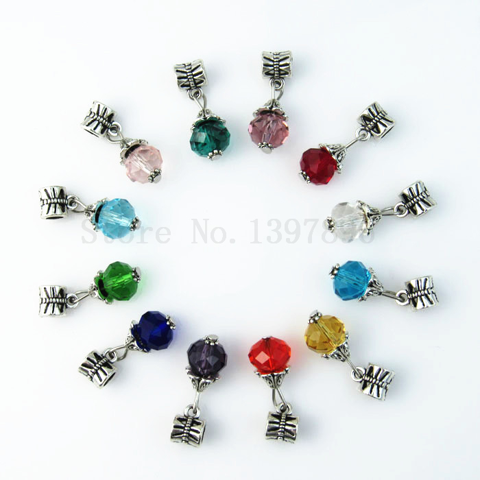 2017 Hot 10mm Crystal 12 Months Birthstone Hole Beads Charms For Diy European Bracelet In From Jewelry Accessories On Aliexpress