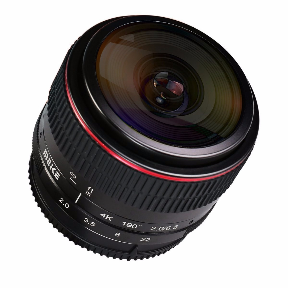 MEIKE MK-6.5mm F2.0 Fisheye Lens Fixed Focus Lens EF-M Mount Lense Large Aperture Auto Focus Lens For Canon DSLR Camera 6