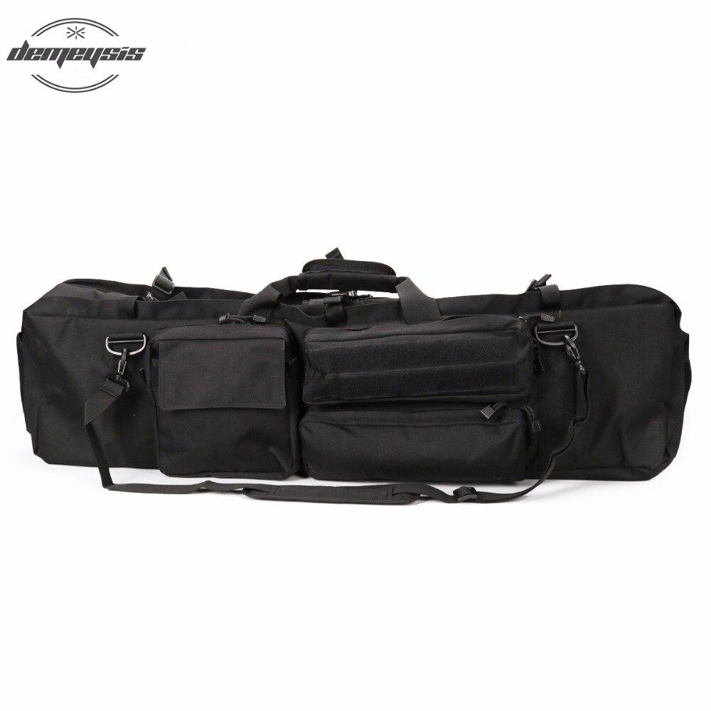 купить Black Men's Military Tactical Gun bag Outdoor Hunting Backpack Rifle Carry Tactical Rifle Bag Tactical Hunting Bag for M249 по цене 3277.54 рублей