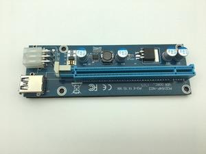 Image 5 - Мини PCI E к PCI Express Райзер карта PCIE 1x к 16x слот USB 3,0 кабель для передачи данных SATA к 6Pin источник питания для майнинга биткоинов