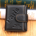 2017 Real Leather men Wallets Trifold Coin Pocket Hidden Zipper Pocket  Quality Retro Style Purse Men Credit Card Holders Brand