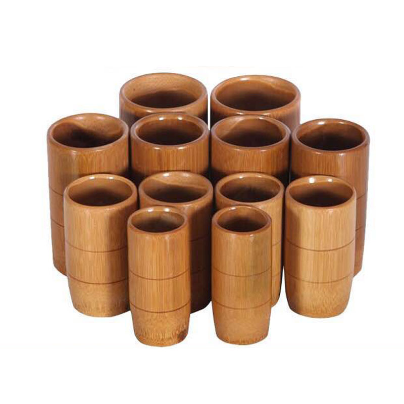 12pcs Carbonized Bamboo Cupping Jar Body Massage Kit Acupuncture Therapy Traditional Medical Treatment Pain Massager