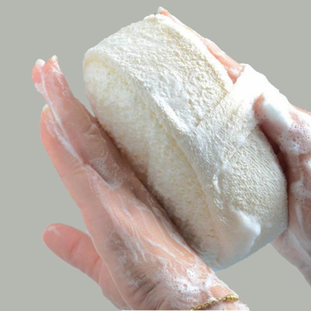 Natural Loofah Sponge Bath Ball Shower Rub Bath Shower Wash Body Pot Sponge Scrubber Durable Healthy Massage Brush