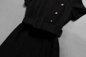 Image 4 - 공주 케이트 미들 드레스 2019 여자 드레스 오 넥 반팔 단추 인어 우아한 드레스 작업복 np0299ck
