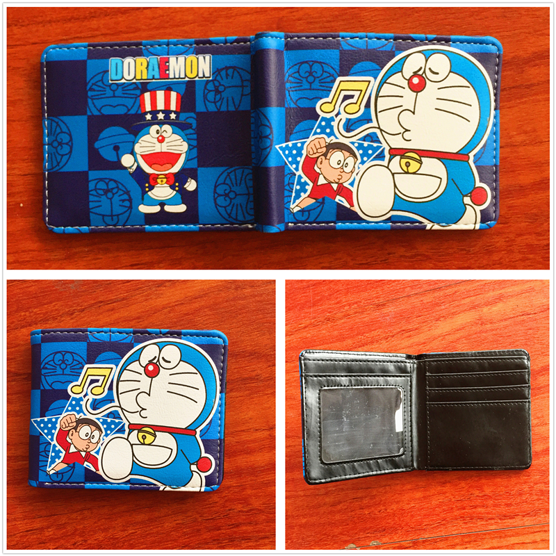 2018 New arrivel Japanese anime cartoon Wallets Doraemon Wallet short PU folding wallets credit card wallets W655 japanese anime figures doraemon 5pcs set car decoration japan comics doraemon garage kits doll toy