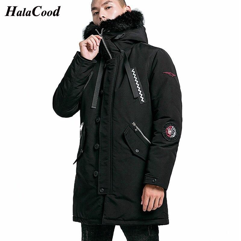 Hot New Quality   Parka   Men Winter Long Jacket Men Hooded Thick Cotton-Padded Jacket Mens   Parka   Coat Male Fashion Casual Coats 4XL