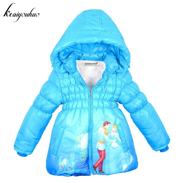 keaiyouhuo 2017 Winter Girls Jacket Cinderella Coat Girls Warm Cotton Outerwear Coat Children Jacket For Girls Coat Kids Clothes