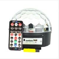 音声コントロールクリスマスレーザープロジェクターステージライトmp3 irリモートデジタルrgb ledクリスタルマジックボールdjバーライト富