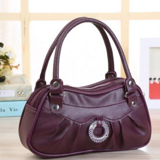 2017 New PU women's handbag trend leather bag zipper bag womens handbags and purses pochette soiree handbag