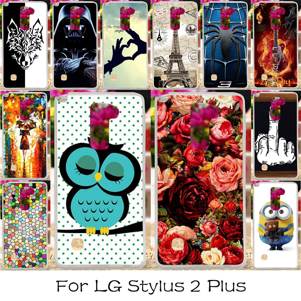 TAOYUNXI Silicon Plastic Phone Cover Case For LG Stylus 2 Plus F720 LS775 K530 K535 G Stylo 2 K520 Stylus2 Stylus Covers Shell