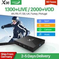 IPTV Europe Italia X96 Android 6.0 Smart 4 K TV Box 2 GB 1300 en direct Iptv Code QHDTV 1 Abonnement d'un An Français Arabe IPTV Top Box
