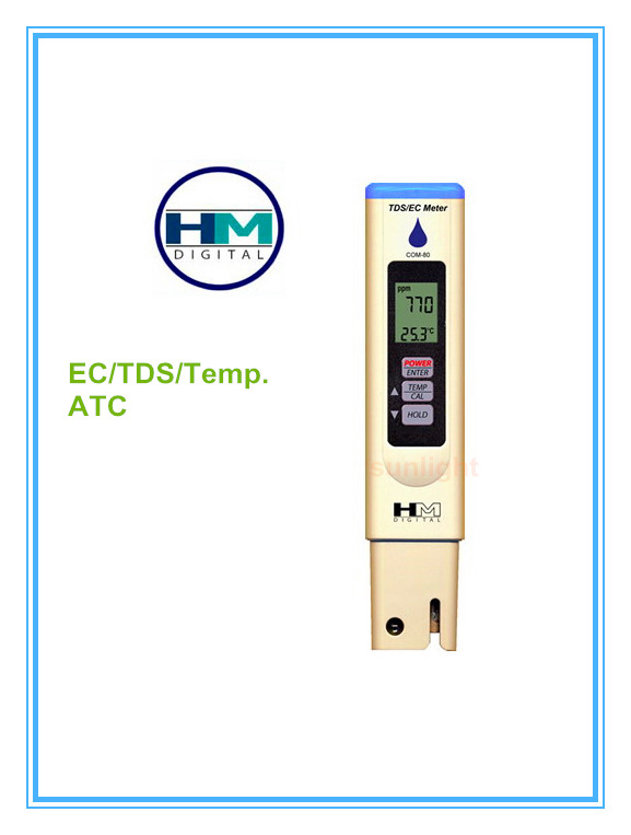 HM Digital COM 80 EC TDS Temperature 3 in 1 HydroTester with Automatic Calibration and Datahold