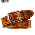 2017 new 100%cowhide Genuine Leather Good Quality Business Mens Belt Luxury Designer Brand Buckle Male Belts for Men  Free