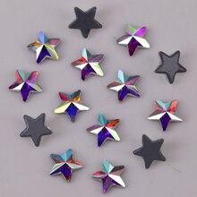 Pyramid-Star Rhinestones Crystal Ab Back-Hotfix Flat High-Quality 5mm 7mm Lead-Free