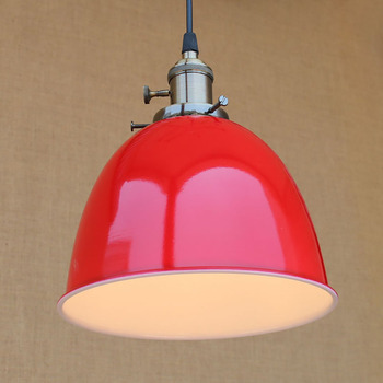 4 color Loft modern Industrial hanging pendant lamp vintage E27 LED lights with switch For Kitchen bar coffee light fixtures