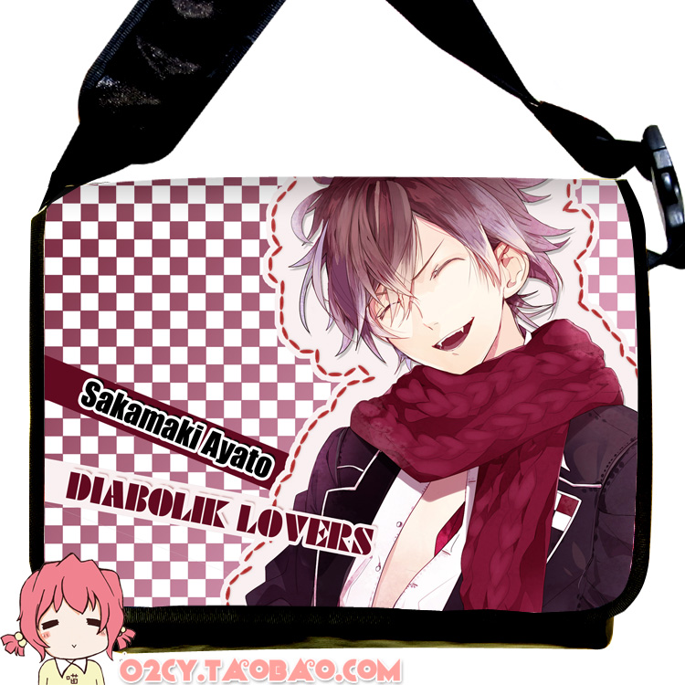 Cartoo Anime DIABOLIK LOVERS cos Sakamaki Ayato/Kanato/Laito/Shu/reiji/Subaru cartoo printing PU fashion man woman bags Handbags стоимость