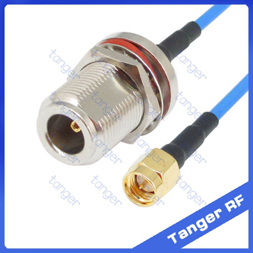 High quality SMA male to N female waterproof connector with RG405 RG086 Coaxial Jumper blue cable 8inch 8