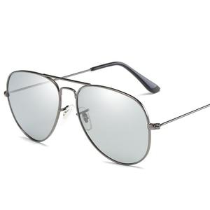 Image 4 - VCKA Photochromic משקפי שמש גברים נהיגה מקוטב משקפיים שמש זיקית טייס ראיית לילה משקפי משקפיים uv400 Eyewear