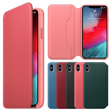 HIPERDEAL PU Leather Protective Cases Practical Fresh Flip Wallet Leather Case Cover + Film For iPhone XS 5.8inch Drop.11.28