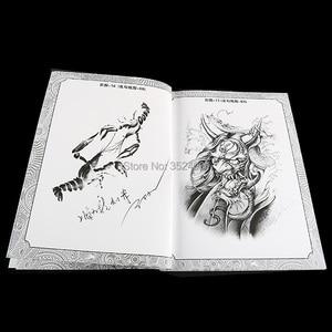 Image 4 - A4 104 דפים קעקוע ספר קישוט פרח בעלי החיים קעקוע שבלונות קעקוע גוף אמנות אביזרי מתאים לגברים נשים