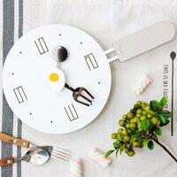Креативные ложки народное Солнце металлические настенные часы сковорода кухонные настенные часы Новинка Дизайнерское искусство Дети Klok М