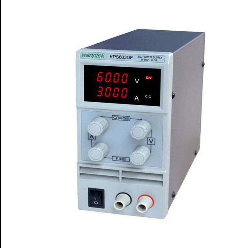 KPS603DF Adjustable High precision double LED display switch DC Power Supply protection function 60V3A 110V-230V 0.1V/0.001A EU