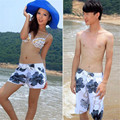 Retail Wholesales Grey Big Flowers Couple Beach Board  Shorts L-XXL