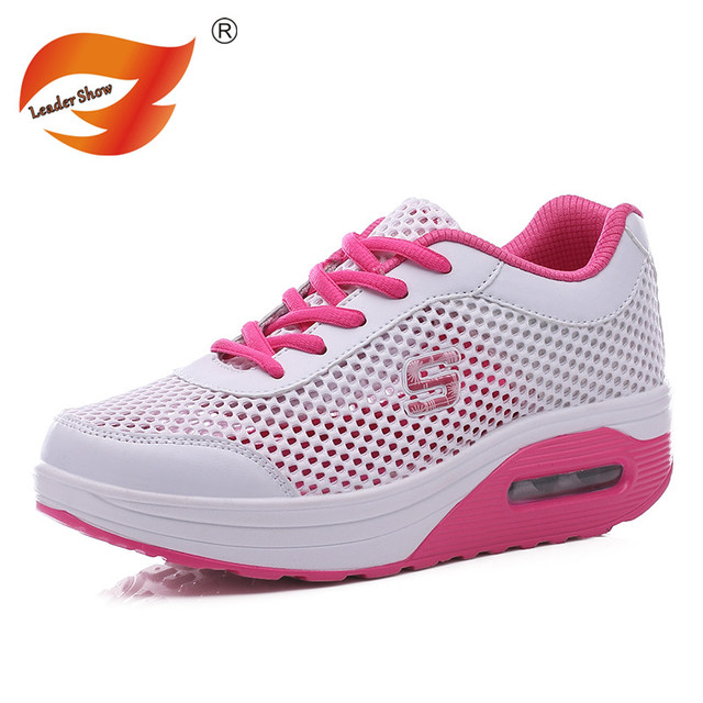 2016 Nuevas Mujeres de La Manera Ocasional Zapatos Para Caminar de Las Mujeres Zapatos de Los Planos de Los Hombres Transpirable Zapatillas Zapatos Ocasionales del Tamaño 35-40 Paseando
